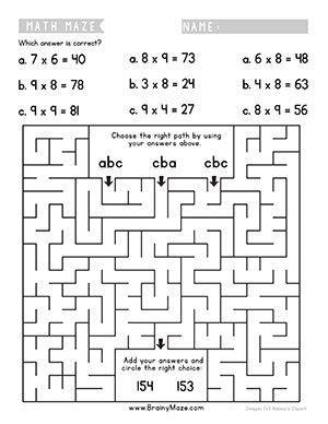 math mazes  practice addition subtraction