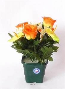 Pot De Fleur Artificielle : pot composition de fleurs de roses anthurium artificielle leste exterieur du site ~ Teatrodelosmanantiales.com Idées de Décoration