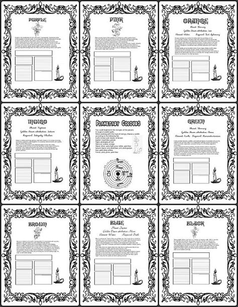 astrology printable coloring book  shadows  pages