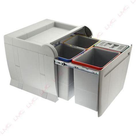 poubelle cuisine tri selectif 3 bacs poubelles à tri sélectif de cuisine coulissante ou en inox