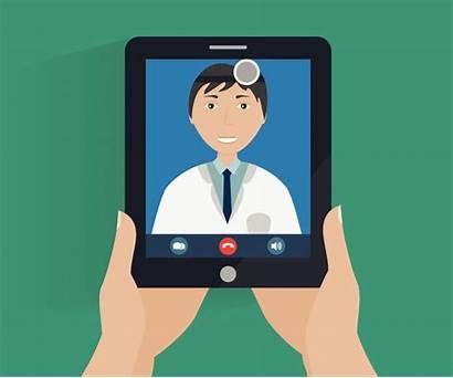Telehealth Telemedicine Doctor Visit Clipart Clip Tablet