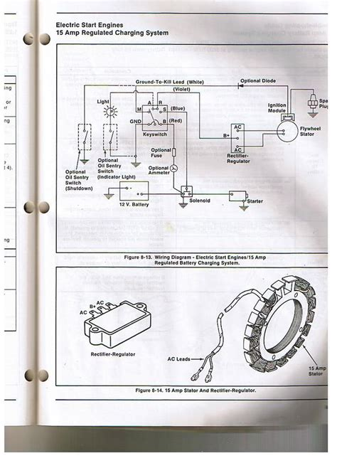 Kohler Engine Electrical Diagram Voltage Regulator