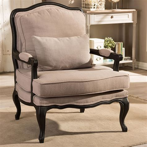 fabric side chairs baxton studio antoinette beige fabric upholstered accent 3652