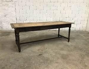 Table Ancienne De Ferme : ancienne table ann e 1900 pieds tourn s en bois massif ~ Dode.kayakingforconservation.com Idées de Décoration