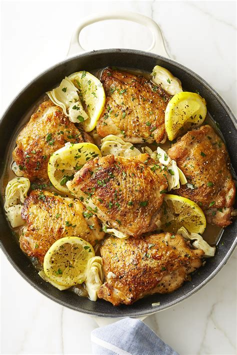 Best Skillet Lemon Chicken with Artichokes Recipe   How to