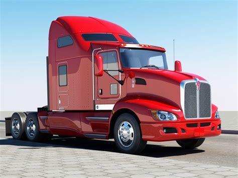 kenworth 2010 models semi truck 3d model
