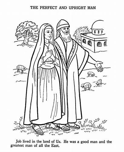 Job Coloring Pages Bible Testament Story Printables