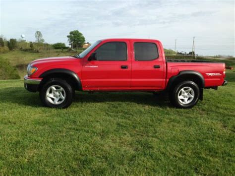 purchase   toyota tacoma double cab   red