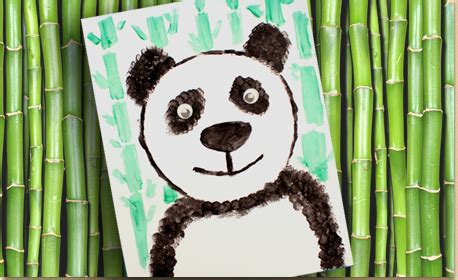 panda with texture techniques craft project ideas 350 | panda brush mn