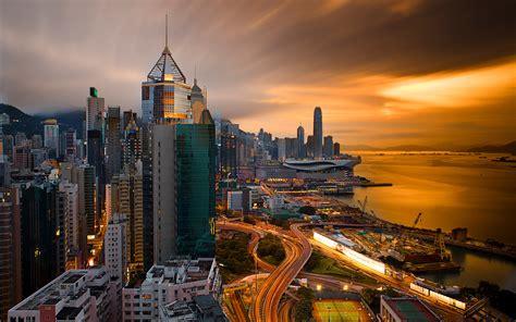 hong kong city  night china desktop hd wallpapers  mobile phones laptop tablet  pc