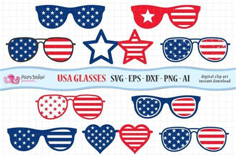 Abraham lincoln in flag glasses svg, png, 'merica, fourth of july, 4th of july svg, patriotic, america svg, cricut, silhouette cut file, svg. 4th of July Glasses svg. Clip art in Svg, Eps, Dxf, AI and ...