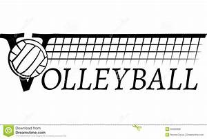 Volleyball Net With Text stock vector. Illustration of ...