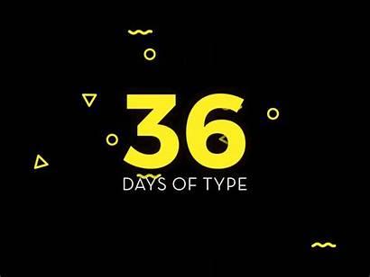 36 Days Intro Type Dribbble Animation Typography