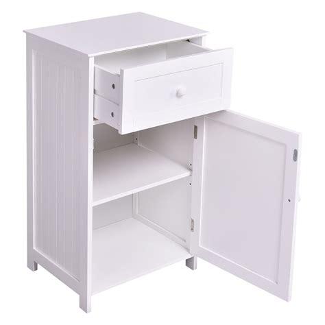 kitchen bathroom storage cabinet floor stand white wood