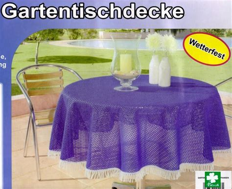 Gartentischdecke Tischdecke 110x140cm Wetterfest Blau Ebay
