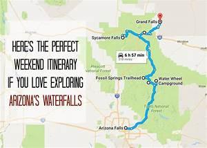 the weekend itinerary to explore arizona s waterfalls