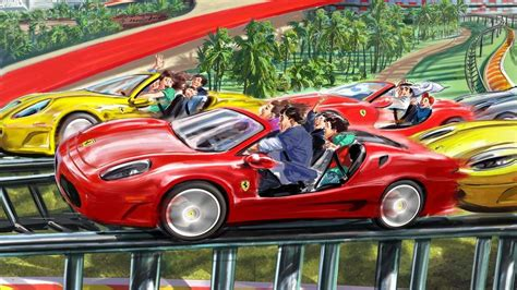 ferrari world abu dhabi reveals attractions  rides