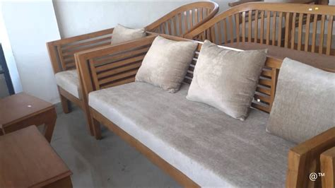 wooden settee designs teak wood sofa set with square design