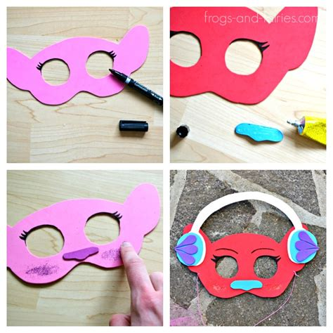 trolls nose templates diy trolls inspired masks and hair headbands frogs and