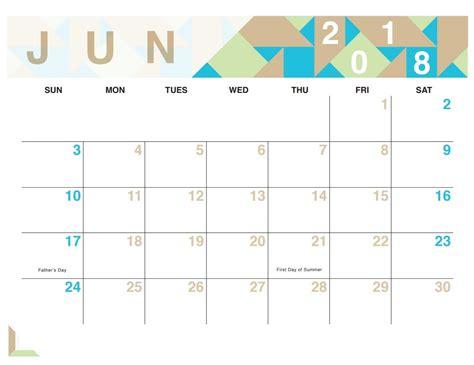 cute calendar june 2018 calendar printable printable templates letter calendar word excel