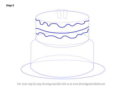 Learn How To Draw A Birthday Cake (cakes) Step By Step