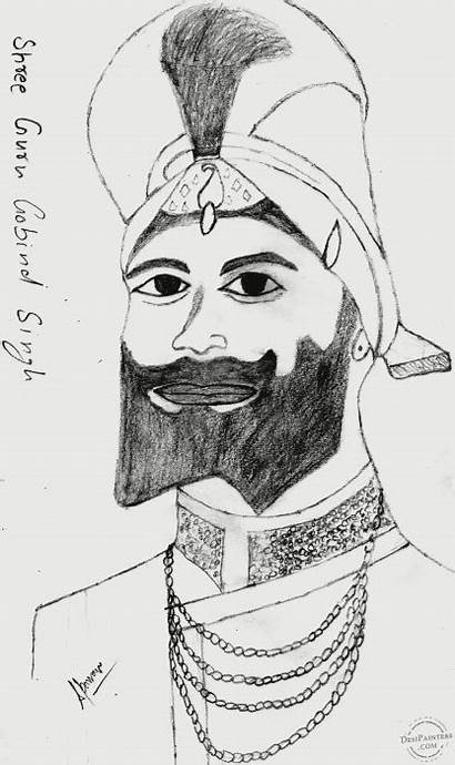 Shri Guru Ji Sketch Gobind Singh Pencil