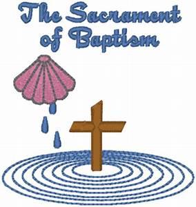 The Sacrament of Baptism Embroidery Design