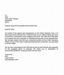 Sponsorship letter 7 free download for word for Sample sports team sponsorship letter