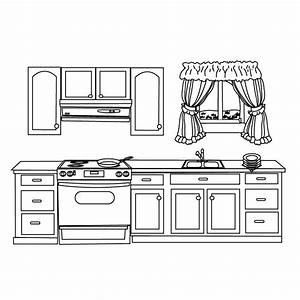 free kitchen coloring pages With kitchen colors with white cabinets with how to print labels on sticker paper
