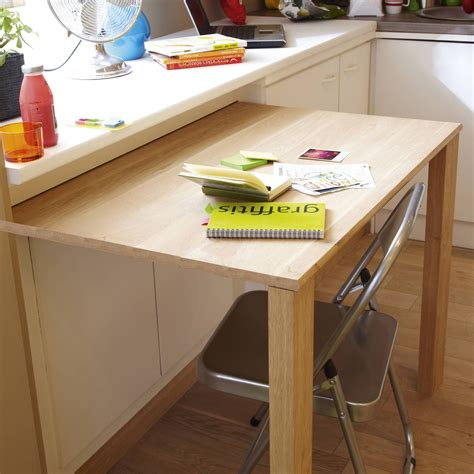 table escamotable cuisine pratique cette table coulissante cuisine table