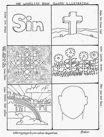 Coloring Wordless Gospel Pages Printable Worksheets Children
