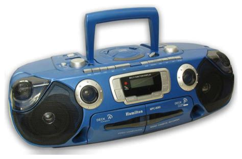 portable cd player with dual cassette and radio modern