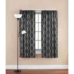 mainstays printed wave room darkening polyester curtain