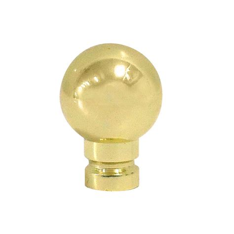 Brass L Finials shop portfolio polished brass l finial at lowes