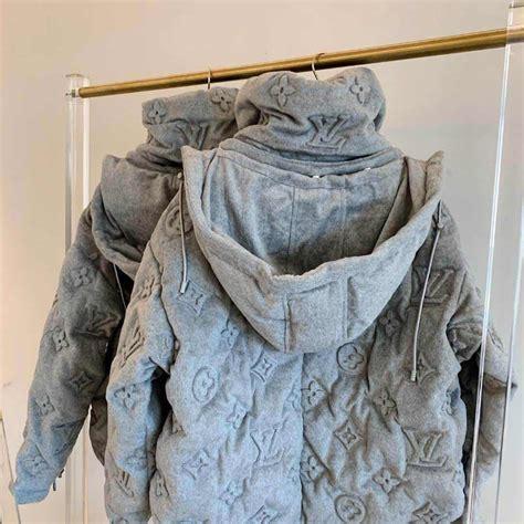 louis vuitton monogram boyhood puffer jacket  grey lv  replica