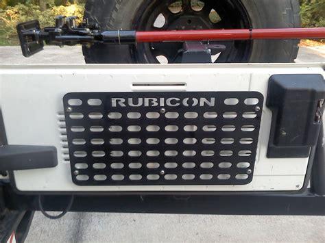 tj jeep tailgate molle panel ebay
