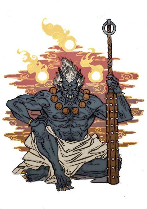demon oni inspi wullin en  tatouage japonaise