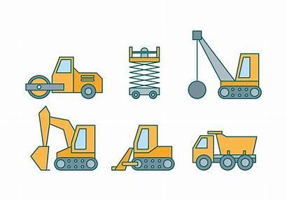 Construction Equipment Vectors Vector Clipart Graphics Getdrawings