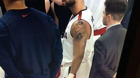 gonzagas josh perkins   tattoo  west virginia