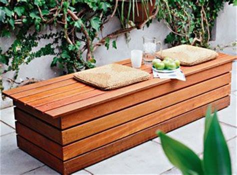 functional  cool diy outdoor storage benches