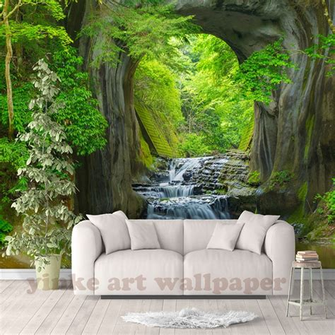 custom  fresh rill forest wall mural photo wallpaper