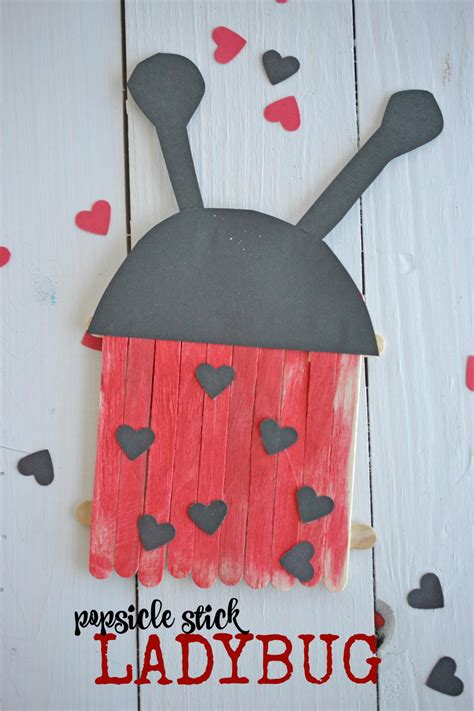 popsicle stick ladybugs kid craft   takes