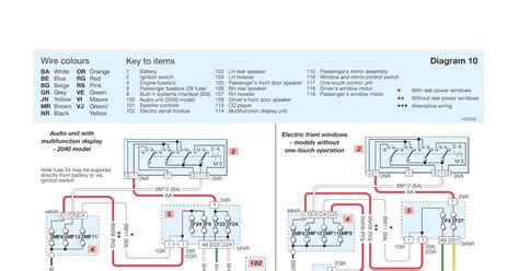 peugeot 206 schematic wiring diagrams audio system electric windows schematic wiring diagrams