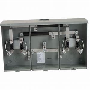 Square D 200 Amp Ringless 2-position Overhead  Underground Meter Socket-ut2r2122b