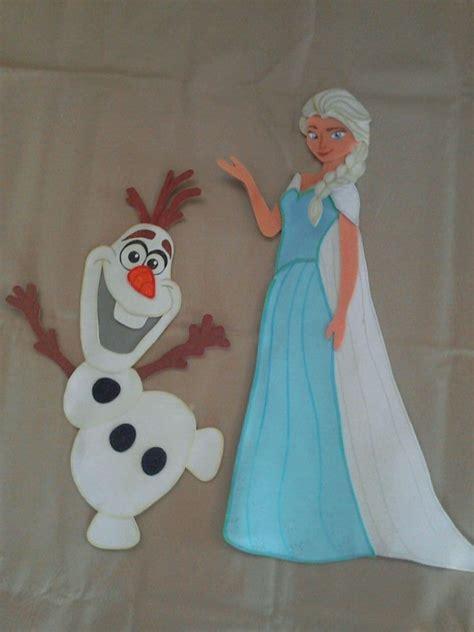 frozen figuras en foami para decorar bs 2 40 en mercado libre