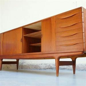 pin by annelies neyens on dressoir pinterest With meuble scandinave annee 50
