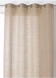 Rideau Toile De Jute : rideau en lin aspect toile de jute lin homemaison vente en ligne tous les rideaux ~ Teatrodelosmanantiales.com Idées de Décoration