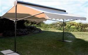 Grand Parasol Rectangulaire : grand parasol pour jardin terrasse alu ou bois qualit luxe ~ Teatrodelosmanantiales.com Idées de Décoration