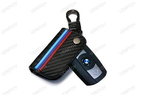 M-colored Stripe Leather Key Holder For Bmw 1 3 5 6 Series