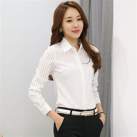 women shirt tops elegant ladies formal office white blouse
